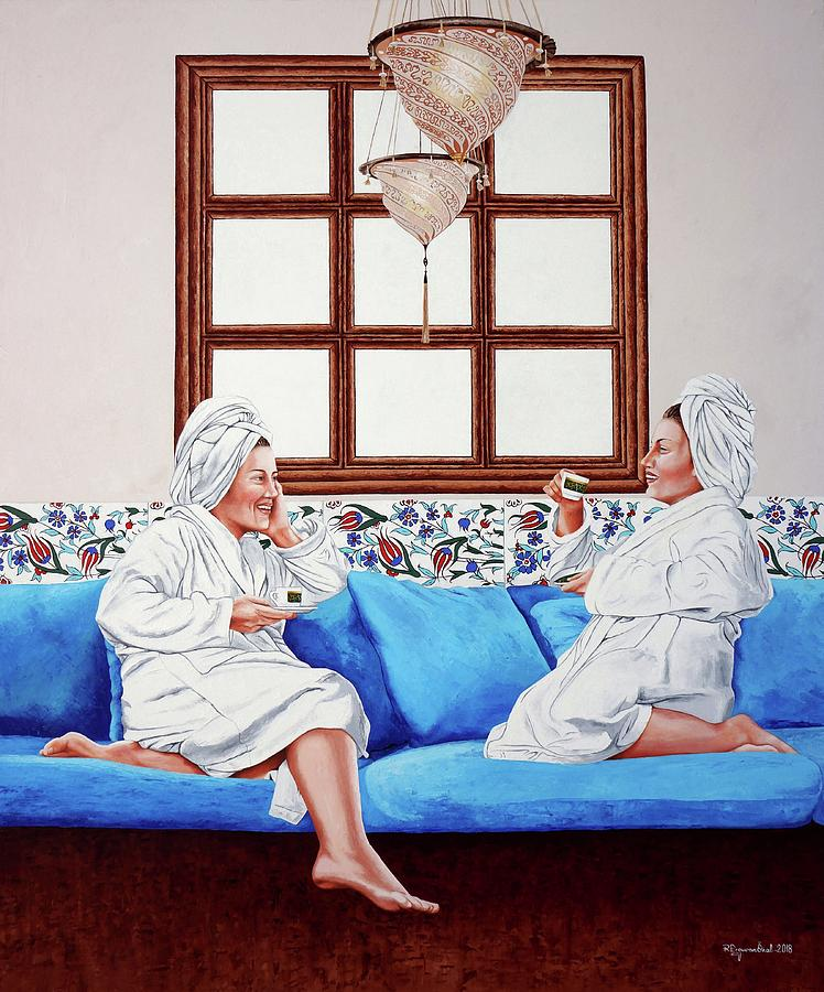 Coffee Pleasure in Turkish Bath by Rezzan Erguvan-Onal