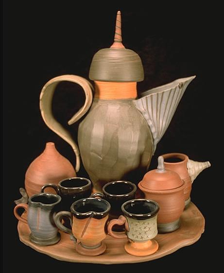Ceramic Ceramic Art - Coffee Service by Kreg Owens
