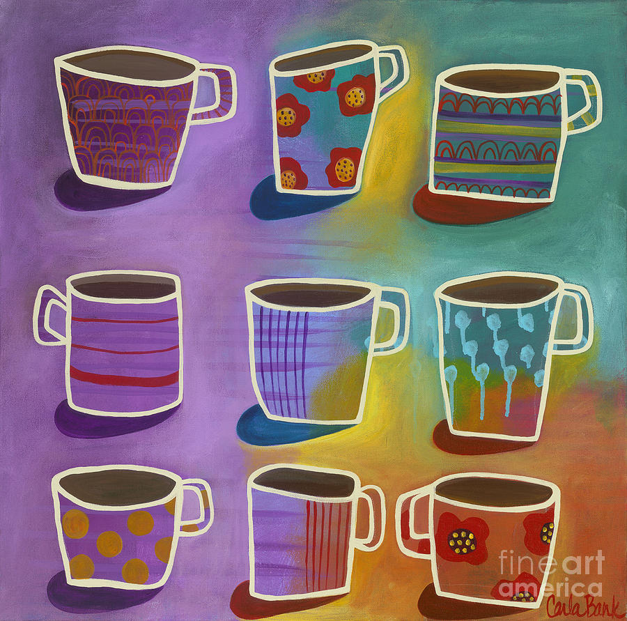 Coffee Painting - Coffee Time by Carla Bank