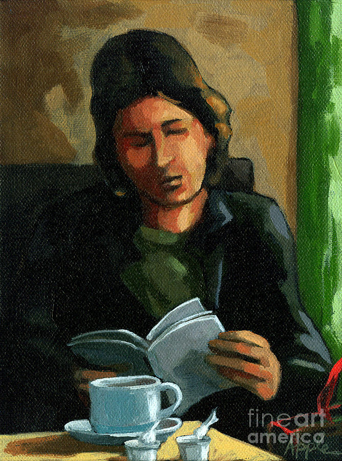 Cafe Painting - Coffee Time by Linda Apple
