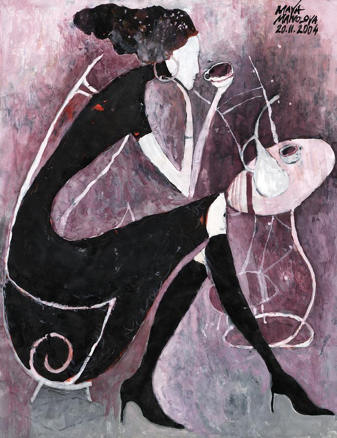Coffee Painting - Coffee Time by Maya Manolova