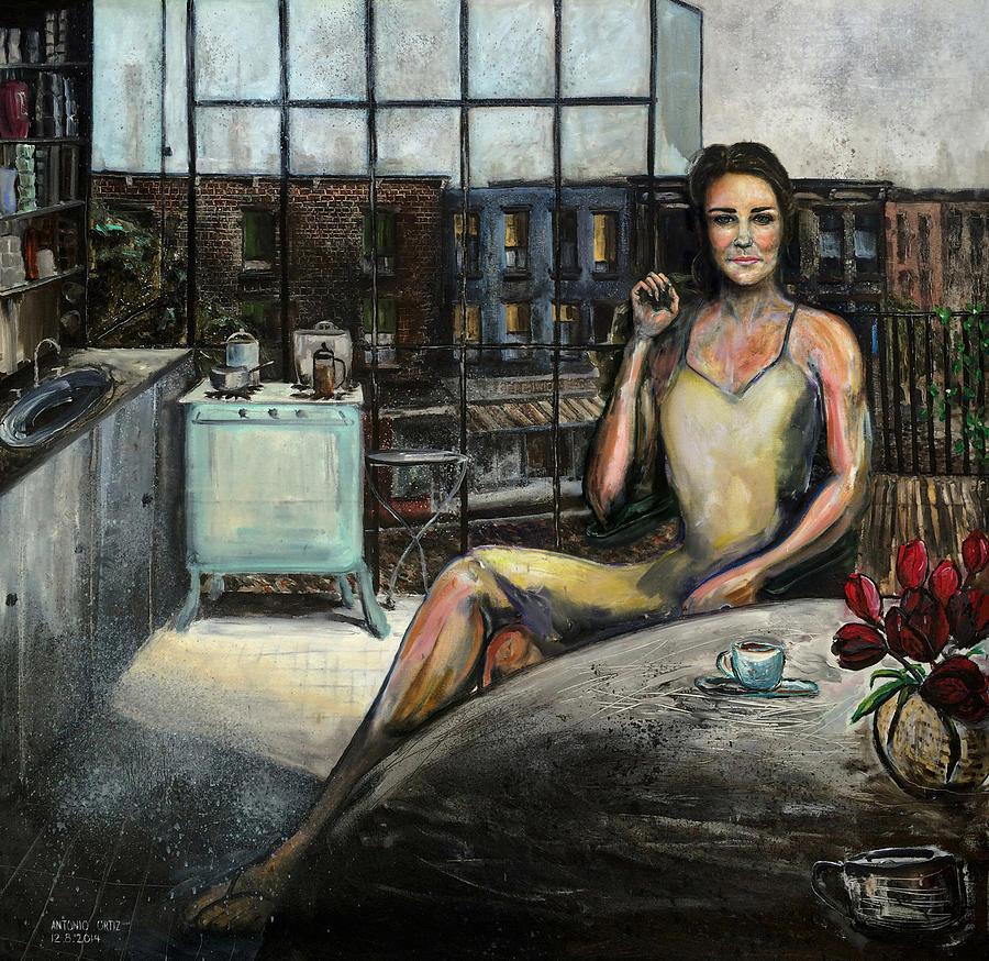 Catherine Middleton Painting - Coffee With Kate by Antonio Ortiz