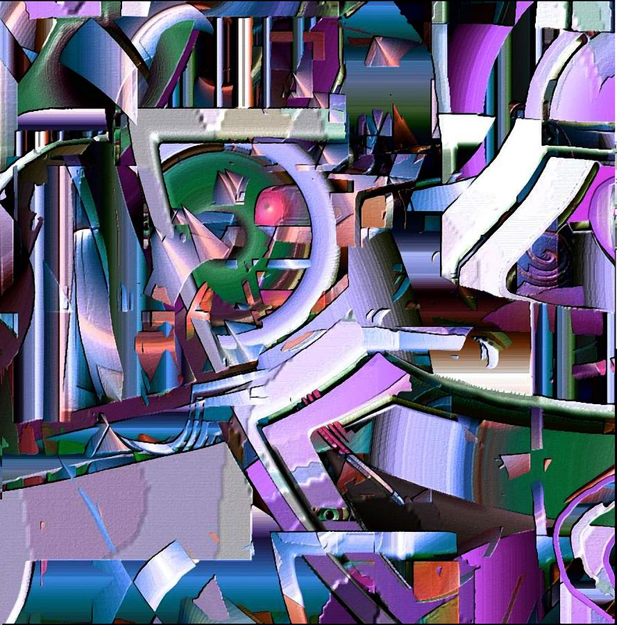 Abstract Digital Art - Cog by Dave Kwinter