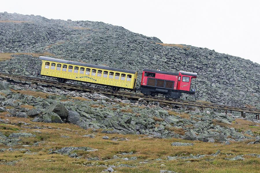 Cog Railway On Top Of Mt Washington Photograph by Kenneth Bourassa
