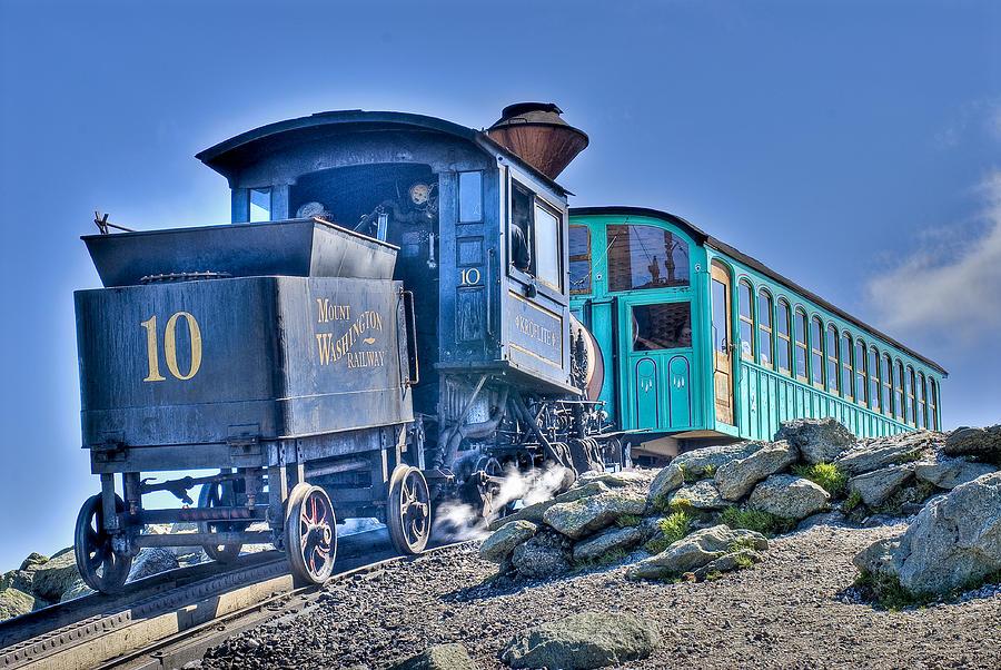 Train Photograph - Cog Train Mount Washington by Jim Proctor