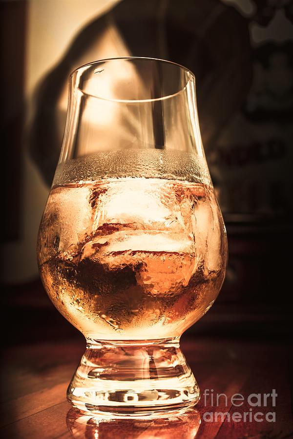 Glass Photograph - Cognac Glass On Bar Counter by Jorgo Photography - Wall Art Gallery