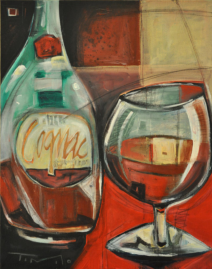 Alcohol Painting - Cognac by Tim Nyberg