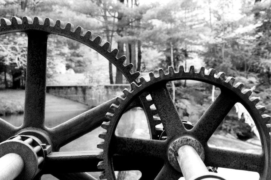 Metal Photograph - Cogs by Greg Fortier