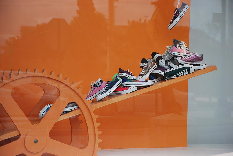 Orange Photograph - Cogs N Converse by Rob Hans