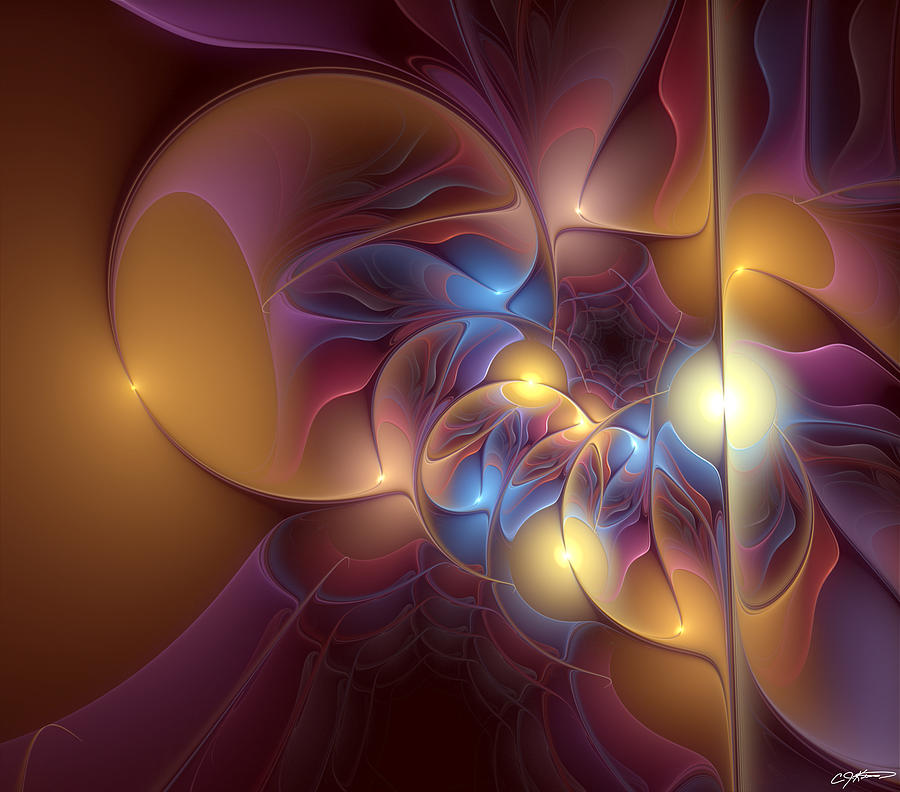 Abstract Digital Art - Coherence Of Desire by Casey Kotas