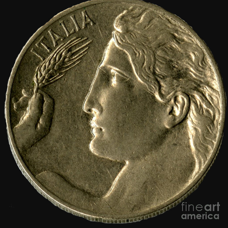 Currency Photograph - Coin Italia by Jost Houk