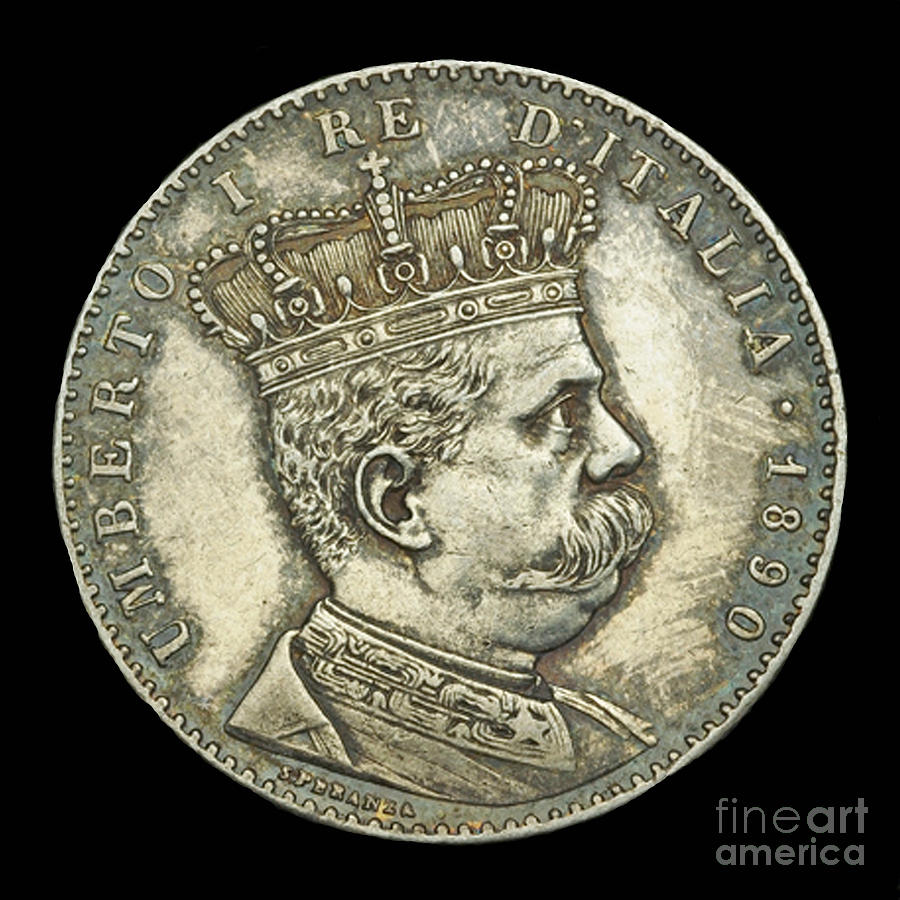 Currency Photograph - Coin Italian King by Jost Houk
