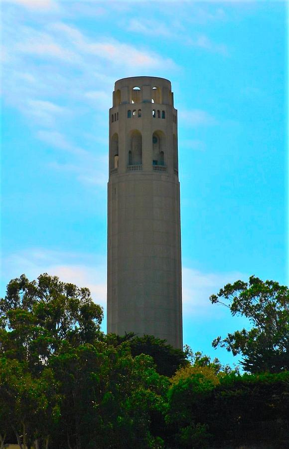 Coit Photograph - Coit Tower by Michael Bergman