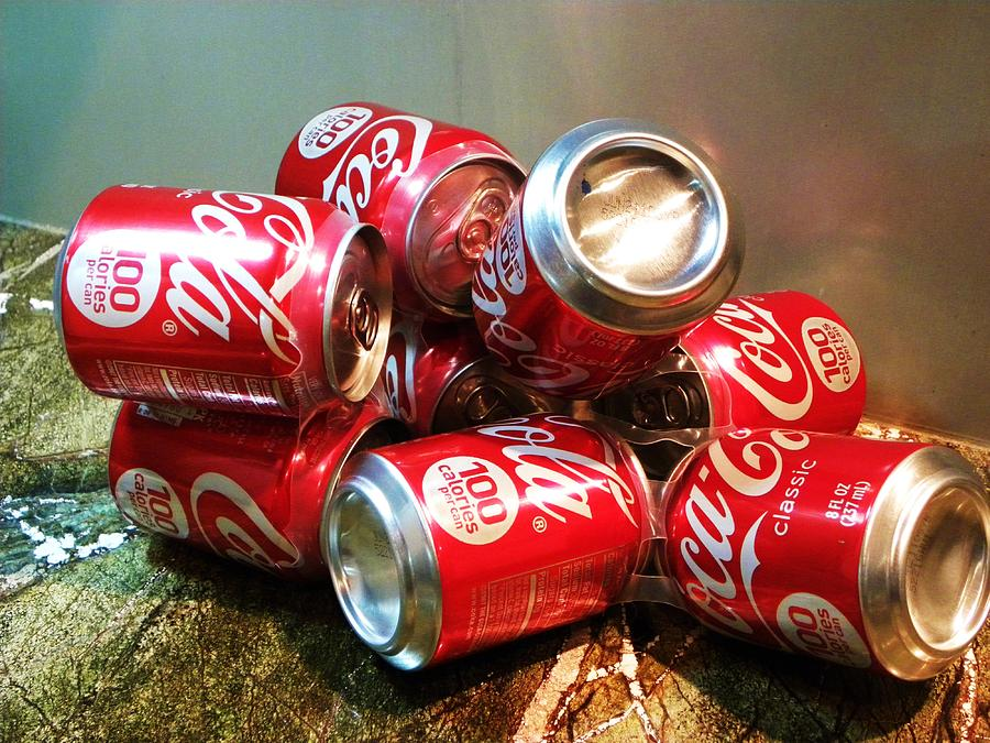 Coke Cans Photograph - Coke by Cindy Gacha