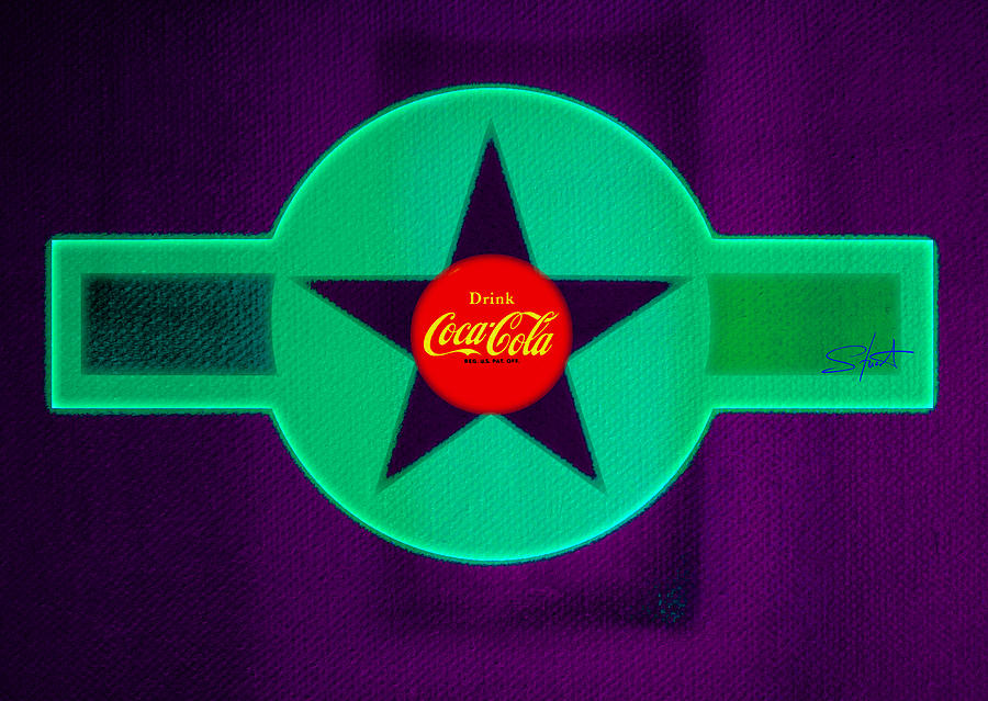 Label Painting - Coke N Lime by Charles Stuart