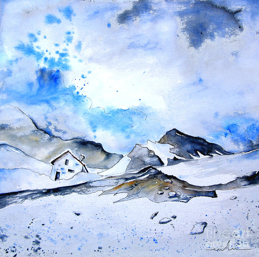 Montain Painting - Col Du Pourtalet In The Pyrenees 01 by Miki De Goodaboom