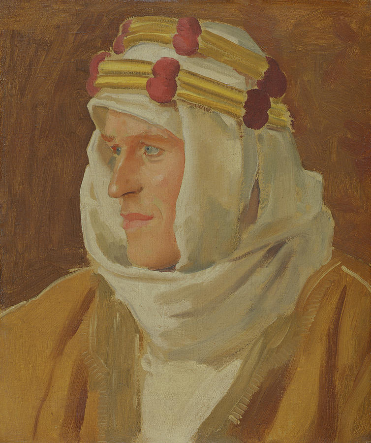 Painting Painting - Lawrence Of Arabia - Col. Thomas Edward Lawrence by Augustus John