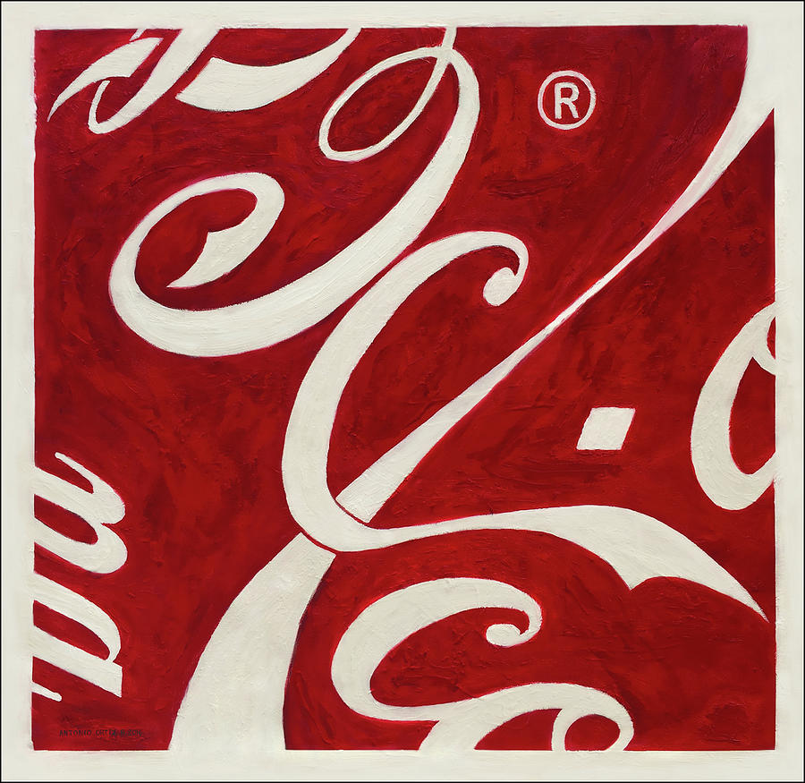 Coca-cola Painting - Cola - Coca by Antonio Ortiz