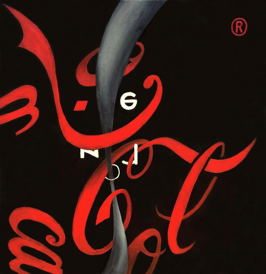 Coca-cola Painting - Cola - Coca Zero by Antonio Ortiz