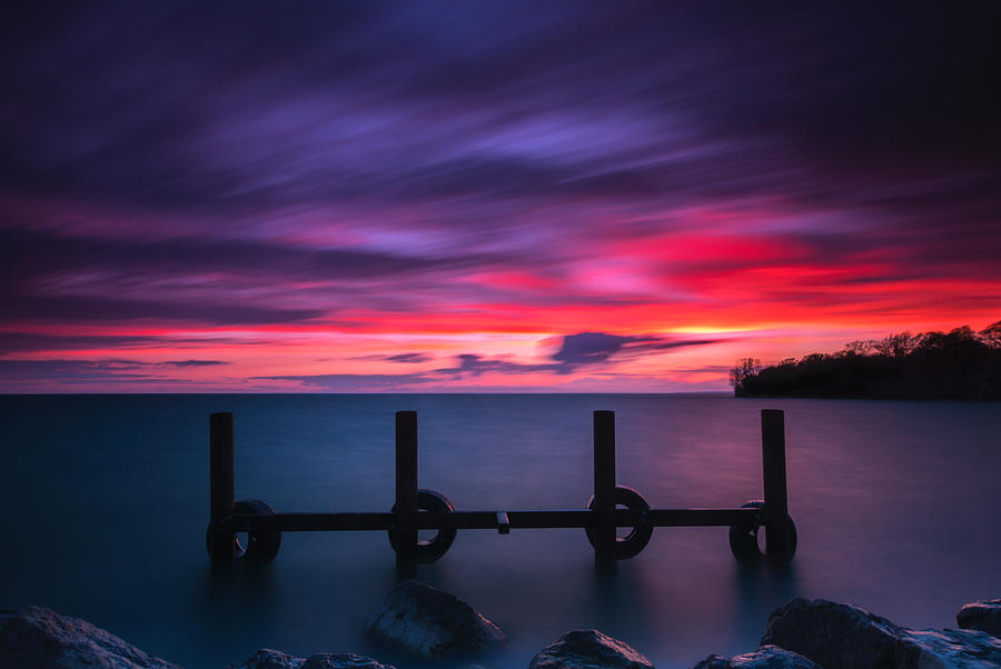 Sunset Photograph - Colchester Harbour by Cale Best