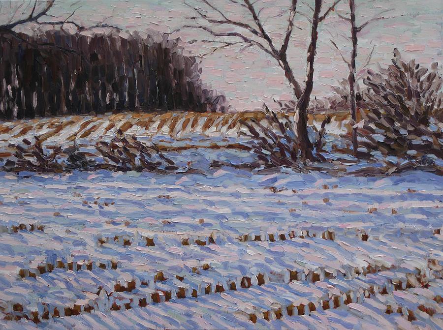 Landscape Painting - Cold Afternoon by John Visser