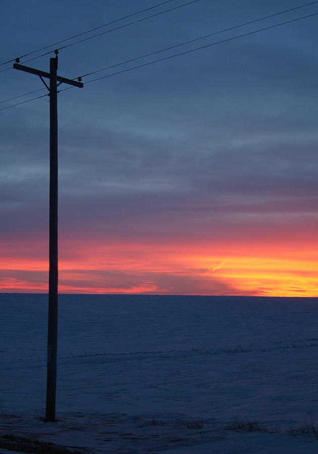 Telephone Poles Photograph - Cold.. by Al  Swasey