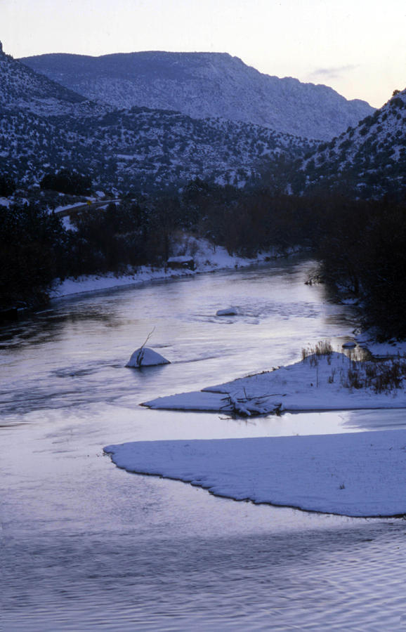 Landscape Photograph - Cold And Blue by Lynard Stroud