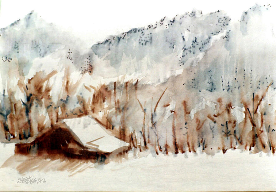 Smoky Mountains Mixed Media - Cold Cove by Seth Weaver