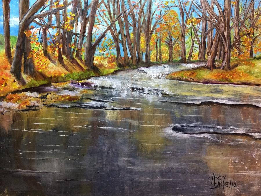 Cold Day at the Creek by Annamarie Sidella-Felts