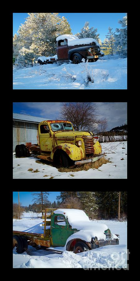 Trucks Photograph - Cold Guys by Idaho Scenic Images Linda Lantzy