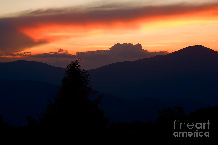 Adventure Photograph - Cold Mountain Sunset by Steven Dillon