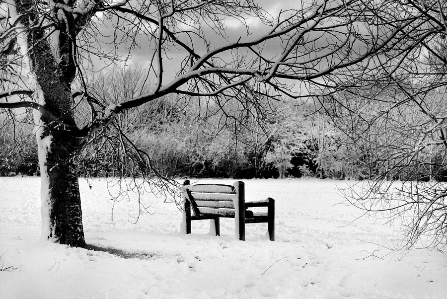 Black And White Photograph - Cold Seat by Terence Davis