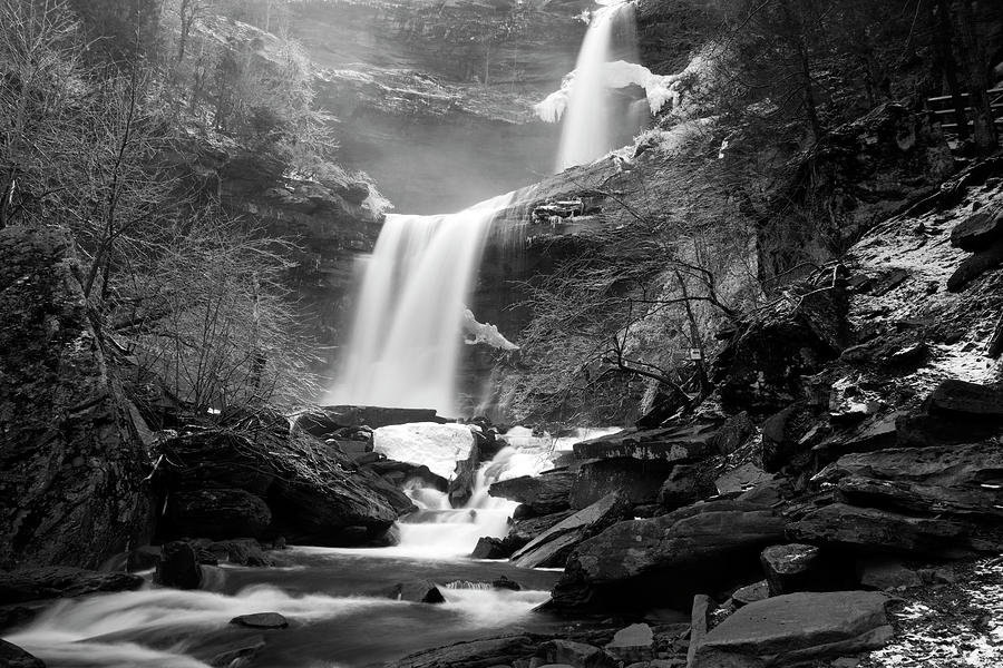 Waterfall Photograph - Cold Spring Morning at Kaaterskill Falls II by Jeff Severson