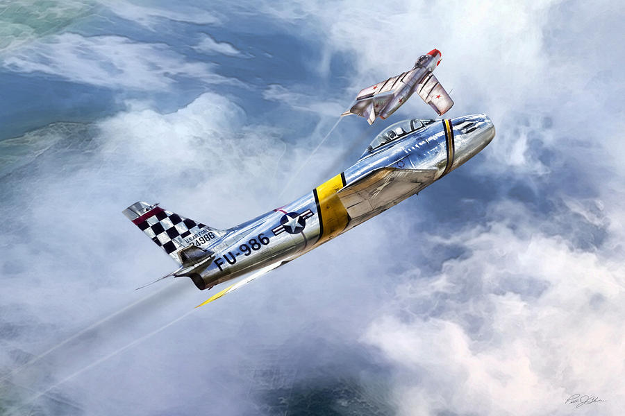 Aviation Digital Art - Cold War Clash by Peter Chilelli