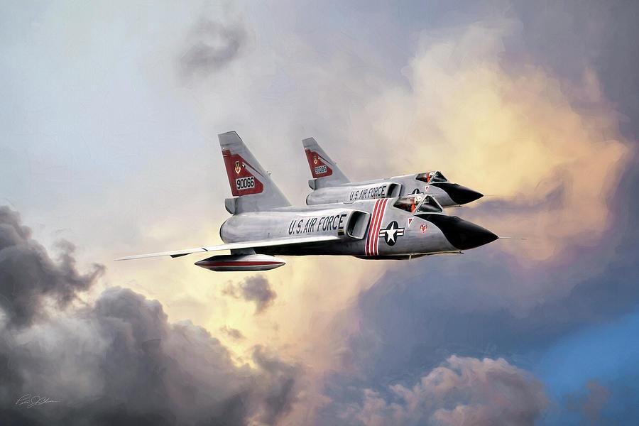 Aviation Digital Art - Cold War Red Bulls by Peter Chilelli