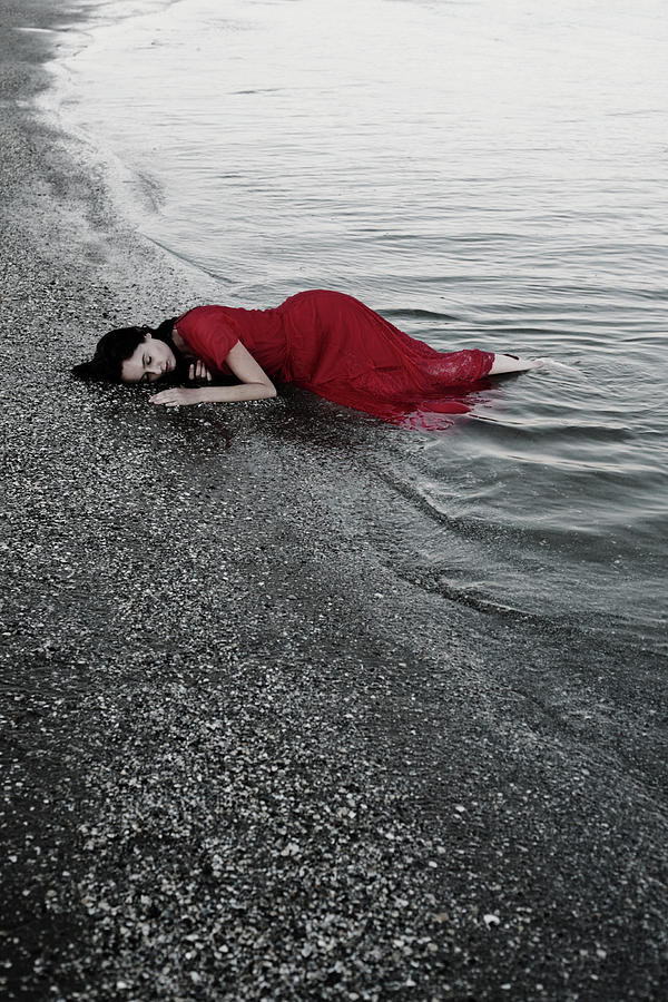 Girl Photograph - Cold Waves II by Cambion Art