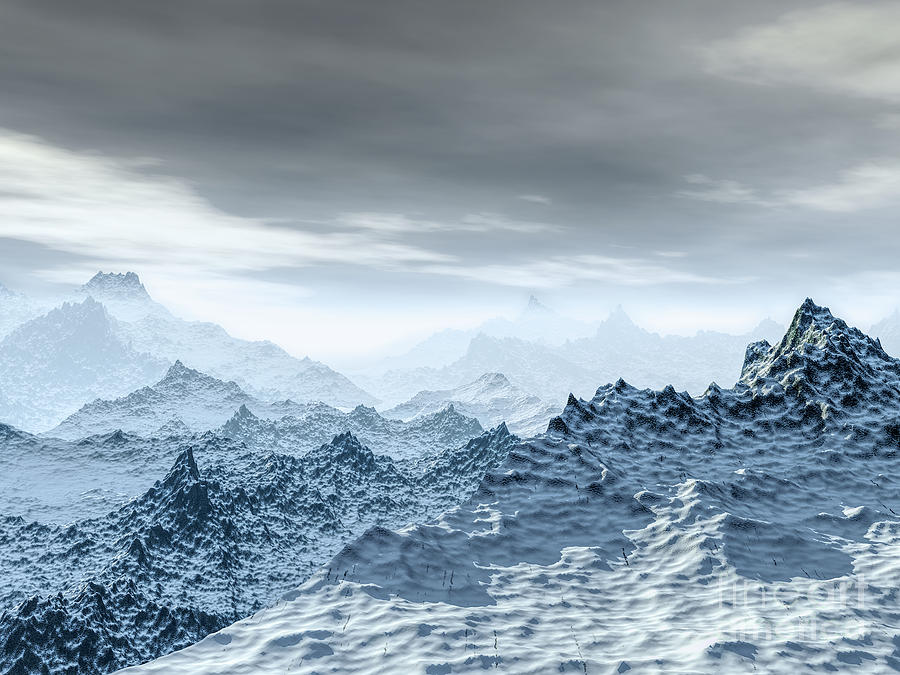 Cold Digital Art - Cold Weather Environment by Phil Perkins