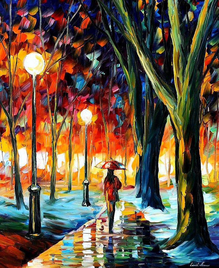 Afremov Painting - Night Fantasy by Leonid Afremov