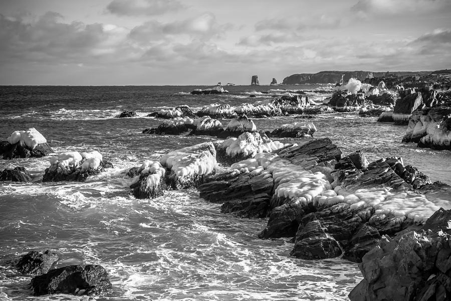 Newfoundland Photograph - Cold Winter Seas by Crystal Fudge