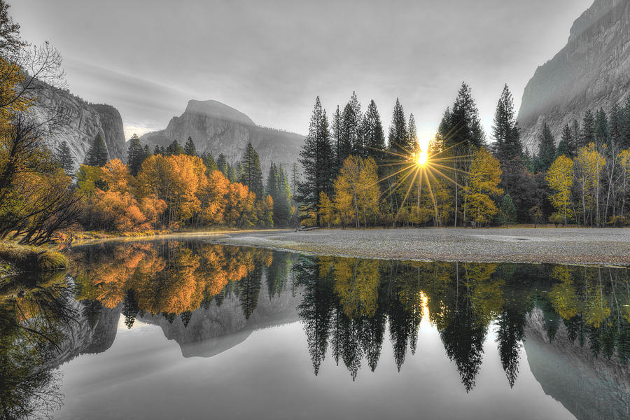 Cold Yosemite Reflections by Mark Whitt