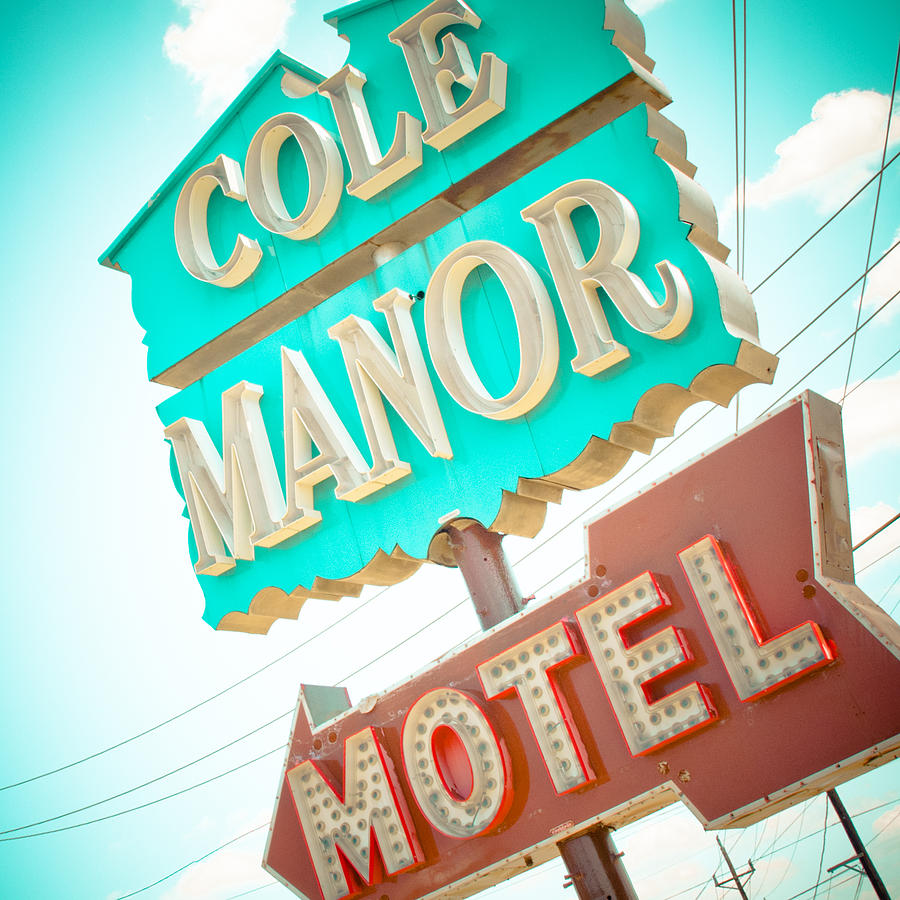 Dallas Photograph - Cole Manor Motel by David Waldo