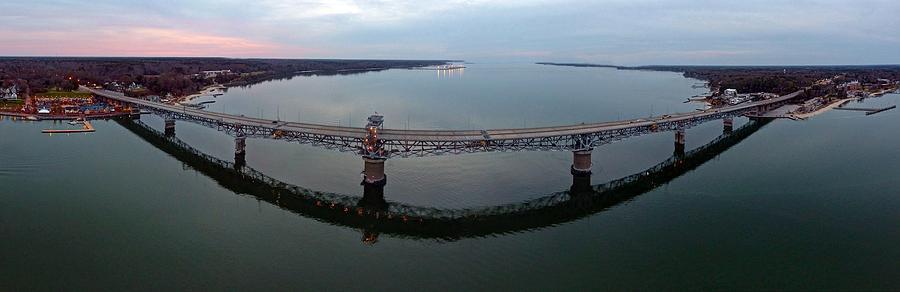 Yorktown Photograph - Coleman Bridge Yorktown by Tredegar DroneWorks