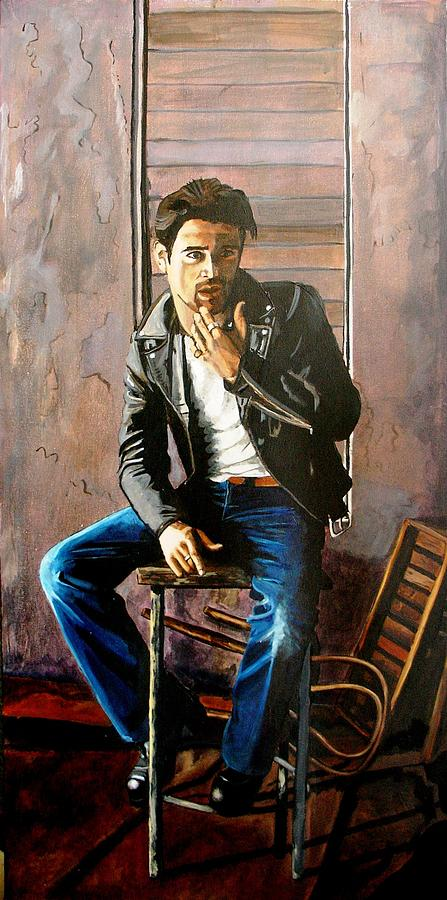 Colin Farrel Painting - Colin by Jacqui Simpson