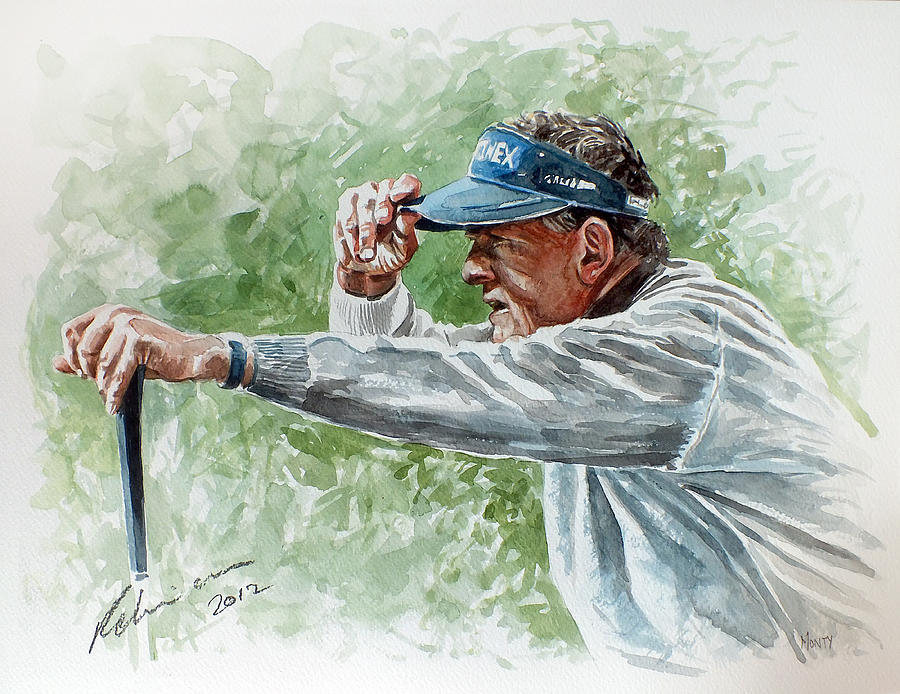 Colin Montgomery Painting - Colin Montgomery Watercolor by Mark Robinson