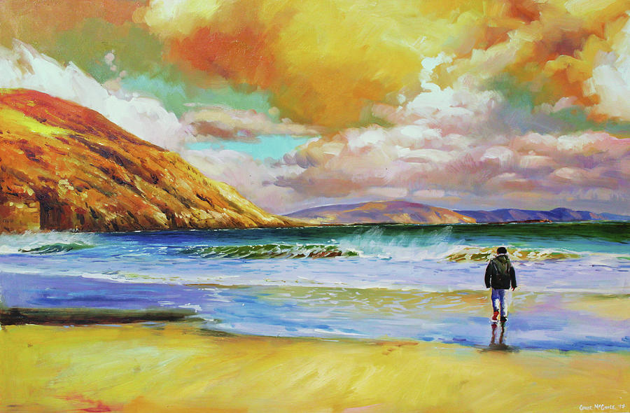 Colin On Keem Beach, Achill by Conor McGuire