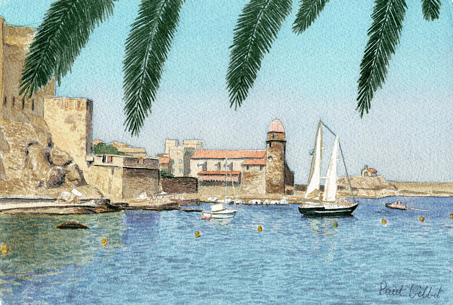 Boats Painting - Colioure Ix by Paul Gilbert