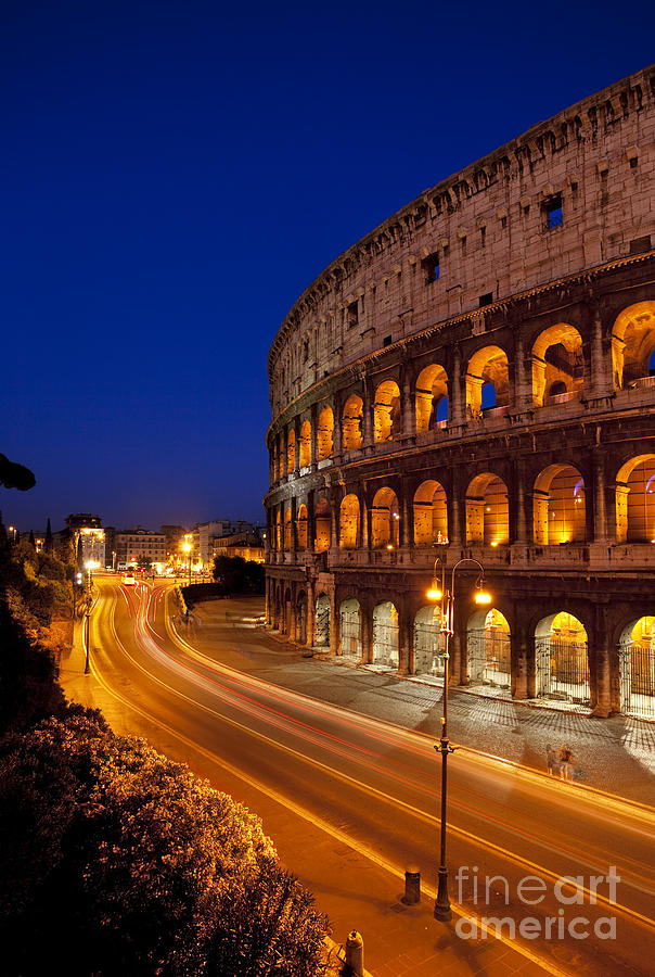 Roman Photograph - Coliseum At Twilight by Brian Jannsen
