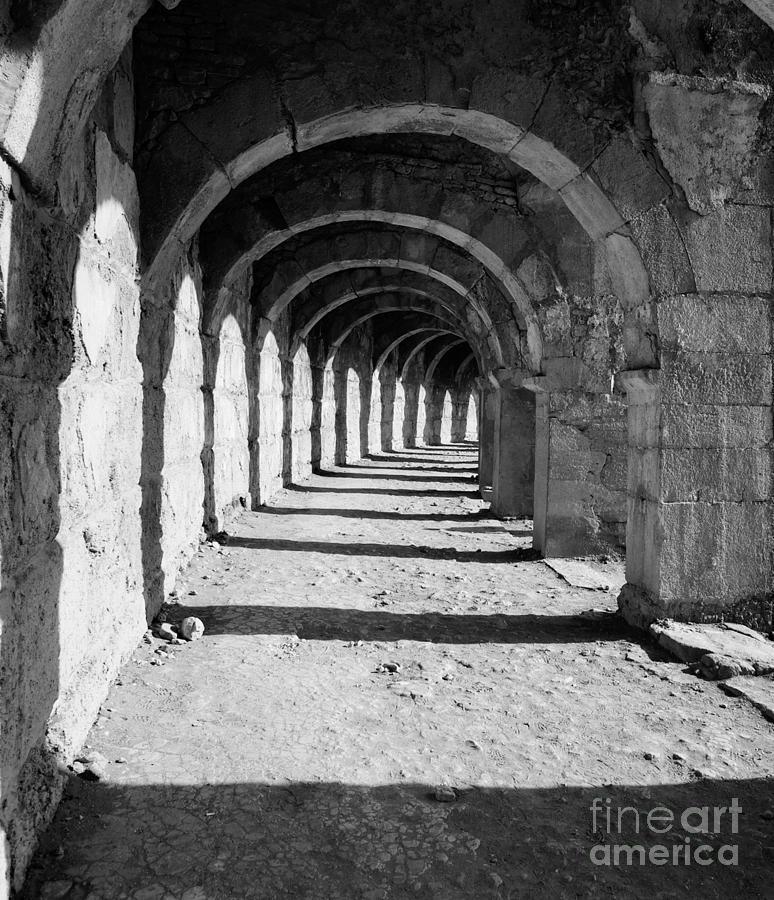Coliseum Photograph - Coliseum Corridor by Glennis Siverson