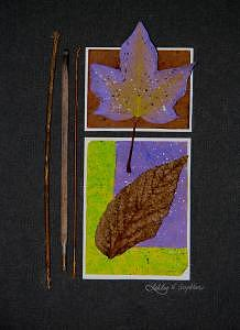 Leaves Mixed Media - Collage - Leaves by Ashley Cameron