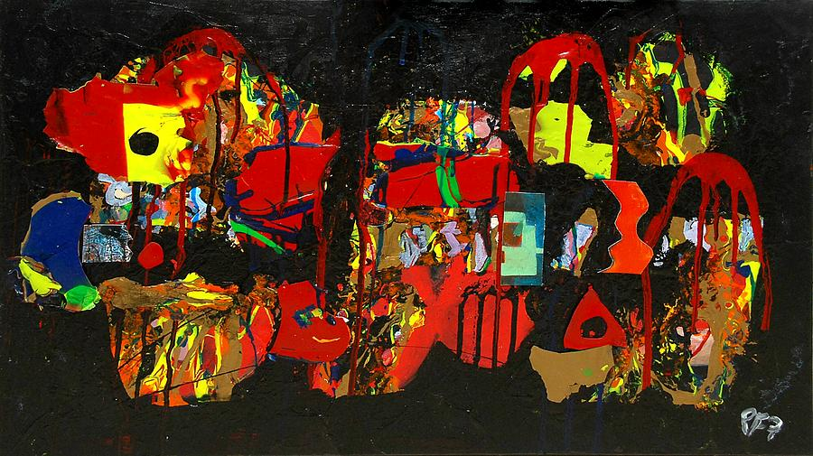 Abstract Painting - Collage 1 by Paul Freidin